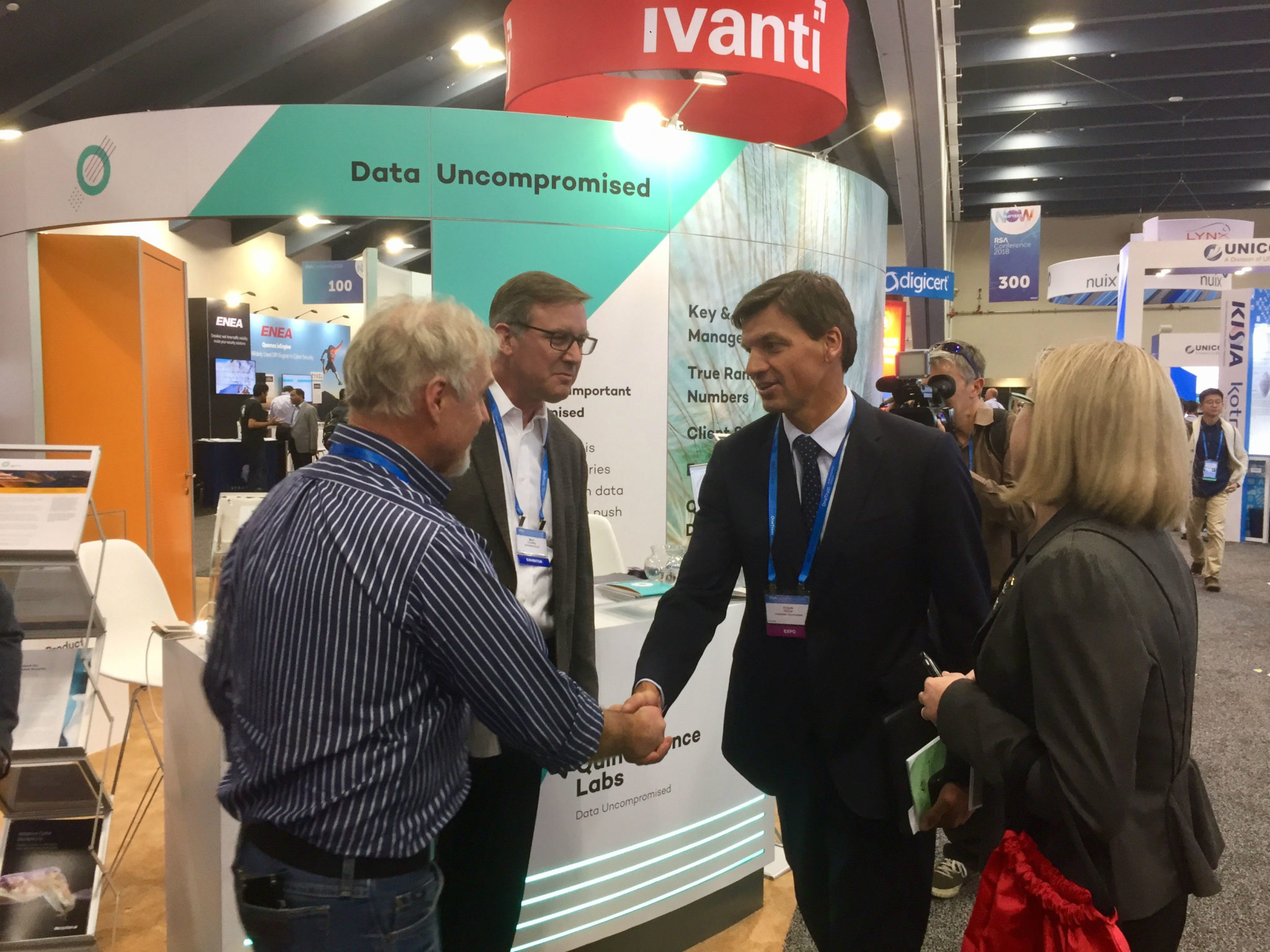 Australia's Minister For Law Enforcement And Cyber Security, Angus Taylor MP, Visited Our Booth At RSA.
